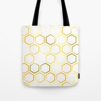 honeycomb Tote Bags featuring Honeycomb by Thomas Knapp