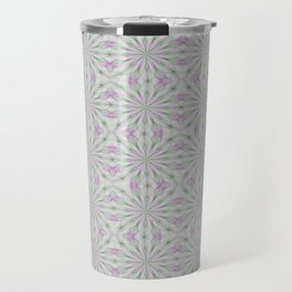 Rosettes in Purple and Green Travel Mug