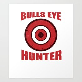 Darts Dart Player Funny Bulls Eye Dart Board Gift Art Print
