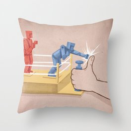The Real Enemy Throw Pillow