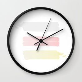 silver pink and gold Wall Clock