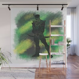 Green Arrow Splatter Background Wall Mural
