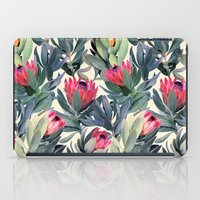 colorful iPad Cases featuring Painted Protea Pattern by micklyn