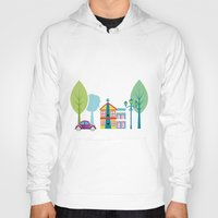 ski Hoodies featuring Ski house by Polkip