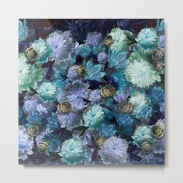 """Baroque floral with bugs"" Metal Print"