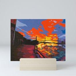 River Street at Sunset Mini Art Print