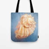 seashell Tote Bags featuring Seashell by The Last Sparrow