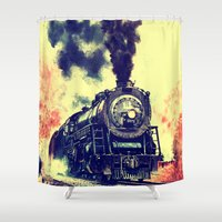 thorin Shower Curtains featuring Express Train by Thorin