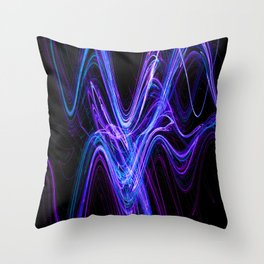 Frenetic Energy Abstract Graphic Design Throw Pillow
