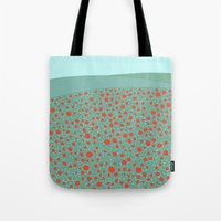 poppies Tote Bags featuring Poppies by Anita Ivancenko