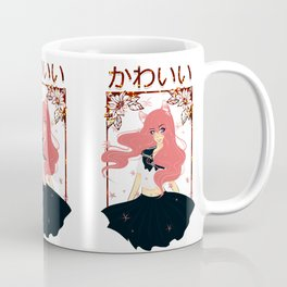 Kawaii Neko Anime Girl Coffee Mug