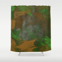 Camo Abstract Shower Curtain