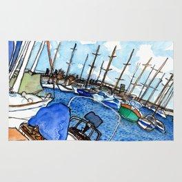 Boats at the Marina Rug