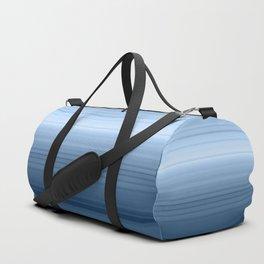 gradient , smoky, gray, blue , stripes Duffle Bag