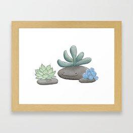 Happy Succulents Framed Art Print