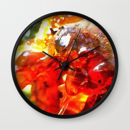 Apricot Resin Abstract Wall Clock