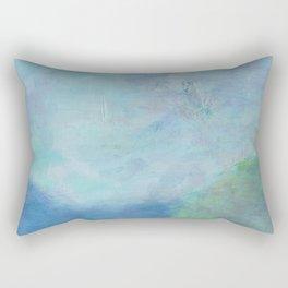 Minimal Cliff - 遠望 series - oil-paint Rectangular Pillow