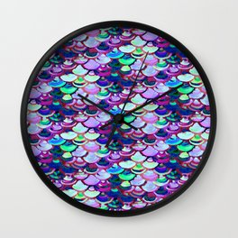 amethyist mermaid skin Wall Clock