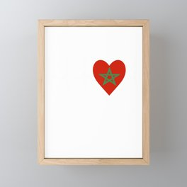 I Love Morocco Framed Mini Art Print
