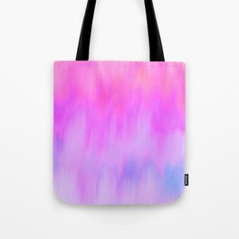Hand painted pink lilac blue watercolor brushstrokes Tote Bag
