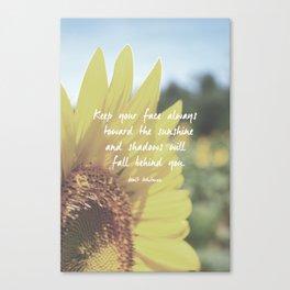 Sunflower Inspiration Print Canvas Print