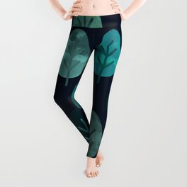 Watercolor Forest Pattern #7 Leggings