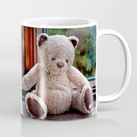 teddy bear Mugs featuring Teddy Bear  by Fran Walding