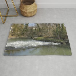 in the rapids of the river in the forest Rug