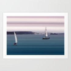 White Cliffs Art Print