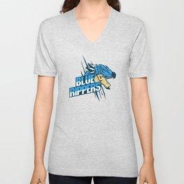 Monster Hunter All Stars - Blue Rippers Unisex V-Neck