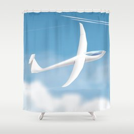 Glider in the sky. Shower Curtain
