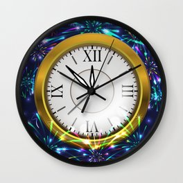 New Year decoration Wall Clock