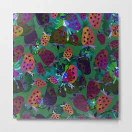 Psychedelic strawberry. Metal Print