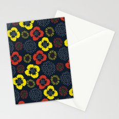 Blooming Wild (red & yellow) Stationery Cards