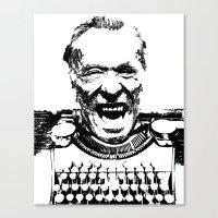 bukowski Canvas Prints featuring Bukowski  by The_Starving_Artist