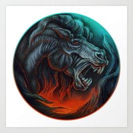 Vicious Horse Art Print