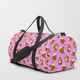 Pomeranian Pattern (Lilac Background) Duffle Bag