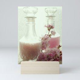 Bath salts and bath foam in still life Mini Art Print