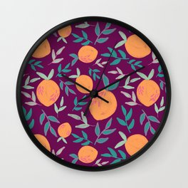 Summer Citrus (Plum) Wall Clock