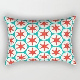 Retro Red Stars Pattern Rectangular Pillow
