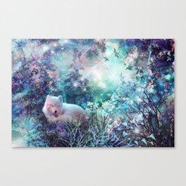 sleeping fox, enchanted dreams Canvas Print