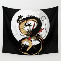 vegeta Wall Tapestries featuring Black Dragon by TxzDesign