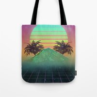 80s Tote Bags featuring 80s love by Mikuloctopus