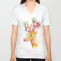 archan nair V-neck T-shirts featuring Maritza by Archan Nair