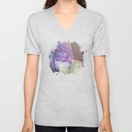 Ultraviolet Bouquet Unisex V-Neck