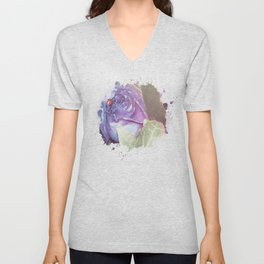 Ultraviolet Bouquet Unisex V-Neck