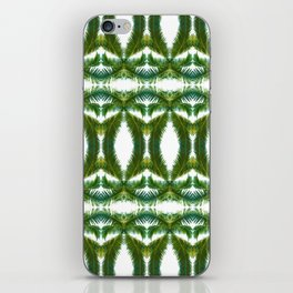Palm Leaf Kaleidoscope (on white) #2 iPhone Skin