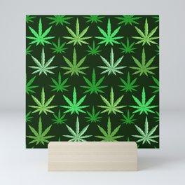 Marijuana Green Leaves Weed Mini Art Print