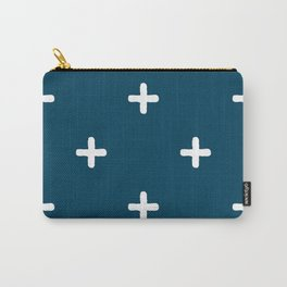 White Crosses on Deep Teal Carry-All Pouch
