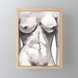 nude study in watercolours 050218 Framed Mini Art Print